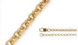 2 14kt Yellow Gold Personalized Name Bars
