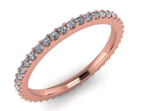 Eternity Stackable Rings, 14kt Rose Gold