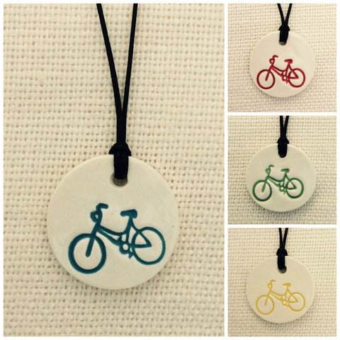 Bicycle Essential Oil Diffuser Necklace
