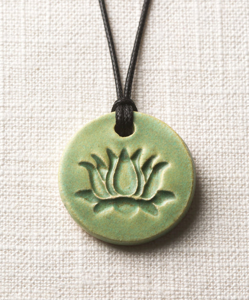 Patina Lotus Essential Oil Diffuser Necklace