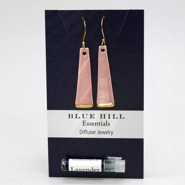 Gold-Dipped Dangles Diffuser Earrings