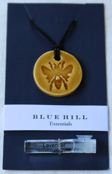 Bee Essential Oil Diffuser Necklace with free vial of lavender essential oil