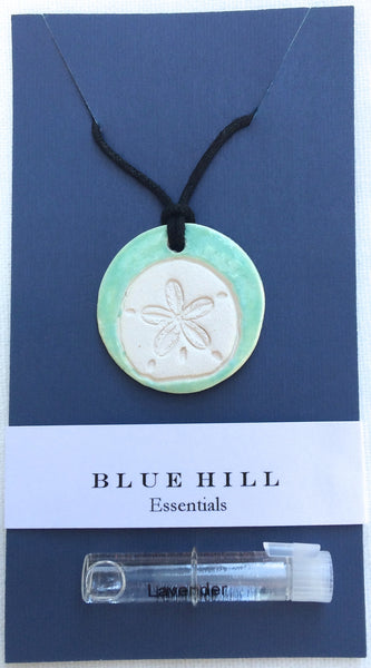 Sand Dollar Essential Oil Necklace comes with lavender essential oil