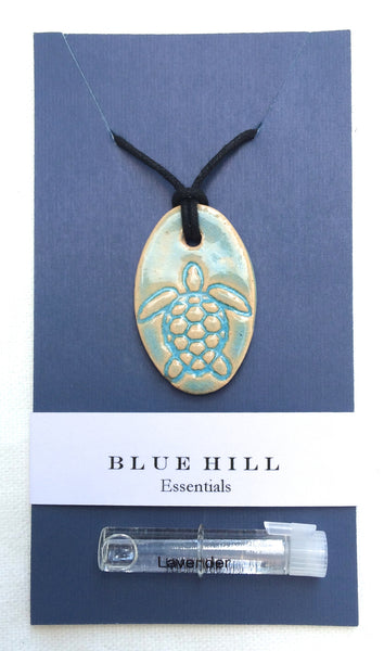 Sea Turtle Essential Oil Diffuser Necklace comes with lavender essential oil