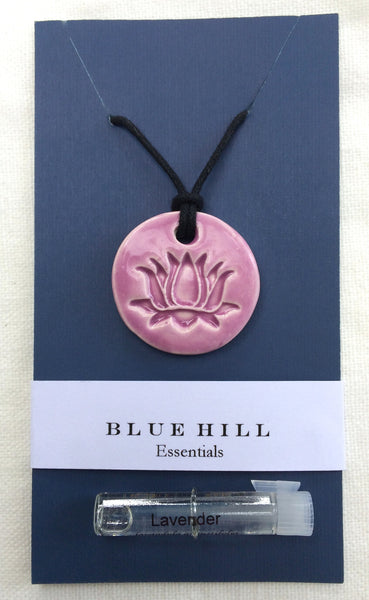 Lotus Essential Oil Diffuser Necklace comes with lavender essential oil