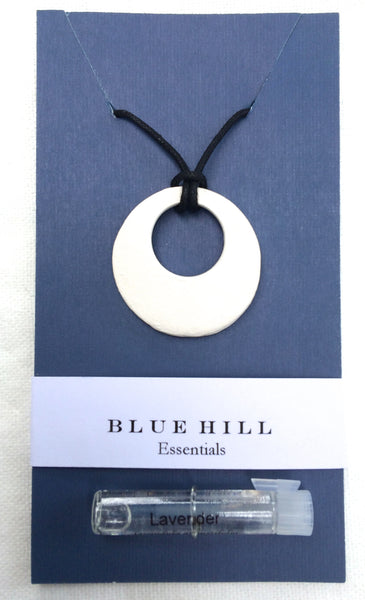 Simple Hoop Essential Oil Necklace comes with lavender essential oil