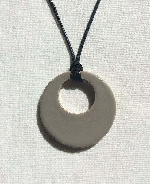 Sand Simple Hoop Essential Oil Necklace