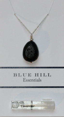 Lava Stone Teardrop Essential Oil Diffuser Necklace