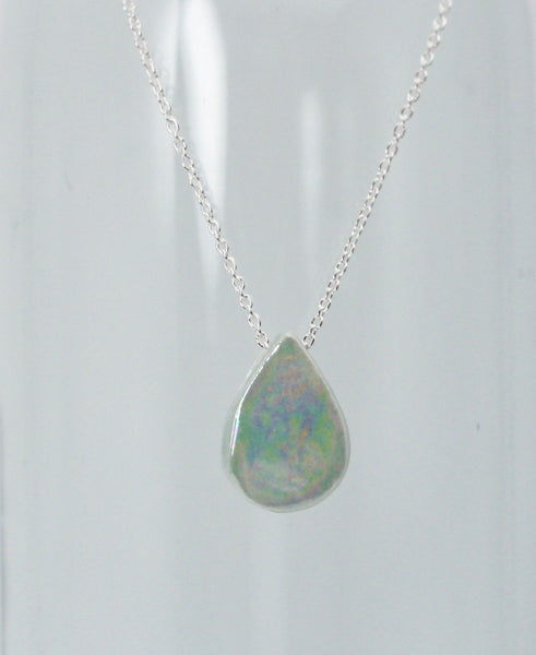 Iridescent Teardrop Essential Oil Necklace