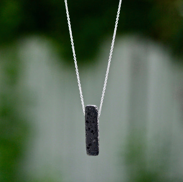 Lava Stone Bar Essential Oil Necklace