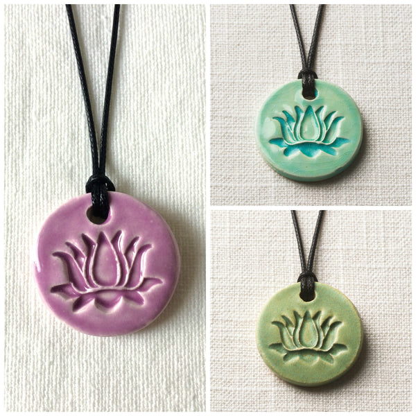 Lotus Essential Oil Diffuser Necklace Colors