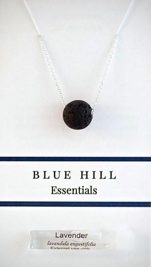 Round Lava Stone Essential Oil Diffuser Necklace comes with lavender essential oils