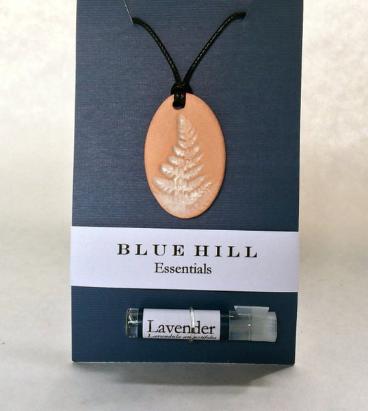 Fern Essential Oil Diffuser Necklace comes with lavender essential oil