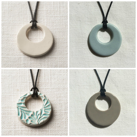 Simple Hoop Essential Oil Necklace Colors