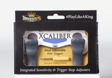 Trigger King Xcaliber PS4 Trigger Grips -  with Integrated Sensitivity and Trigger Stop Adjusters - Cheatergear Hardcore Gaming Products