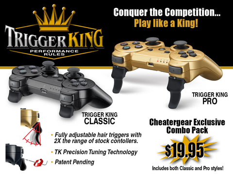 Trigger King PS3 Combo Pack - Classic and Pro Triggers with Tuning Wrench - Cheatergear Hardcore Gaming Products