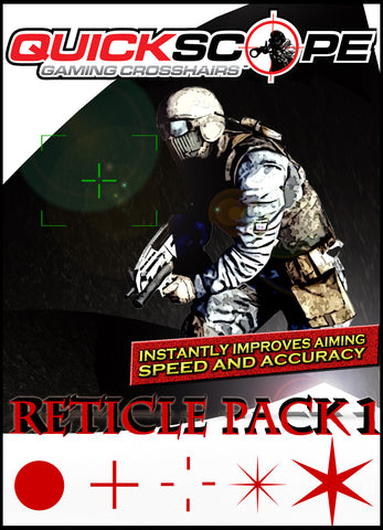 Reticle Pack 1 - Standard Size - Choose your color - Designed for screens under 38 inches - Cheatergear Hardcore Gaming Products