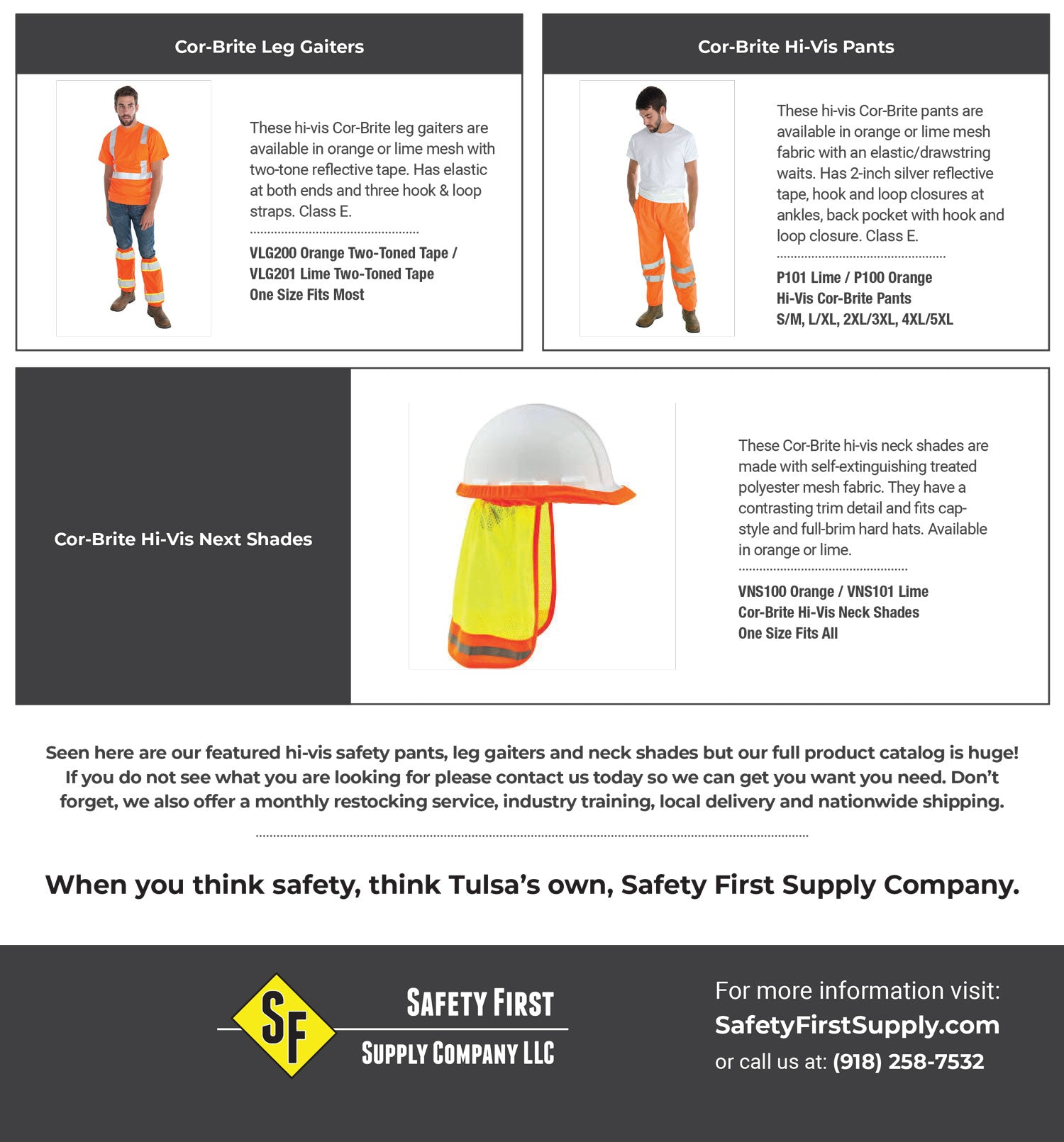 Hi-Vis Safety Pants - Tulsa