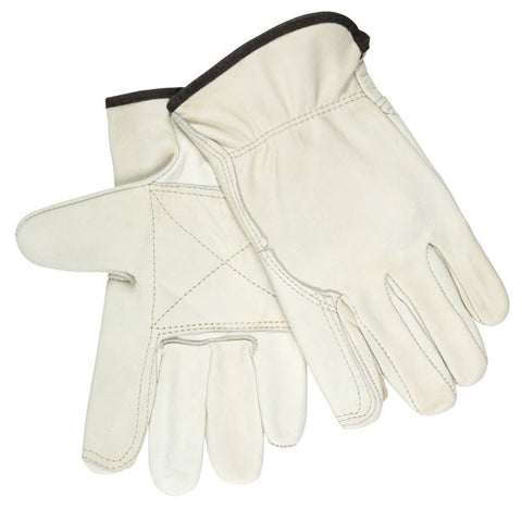 Driver Glove Industry Grain Leather Double Palm Wing Thumb - 32113DP - Dozen