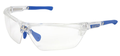 Dominator™ 3, Clear Frame, Blue TPR, Clear Max6™ Anti-Fog lens Coating - DM1320PF
