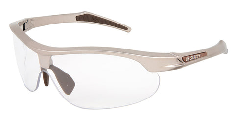 Dominator™ 4, Champagne Color Frame, Brown TPR, Brown Logo, Clear MAX6™ Lens - DM1420PF