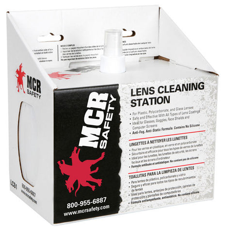 Lens Cleaning - Cleaning Station 8 oz Cleaning Solution, 2 Boxes of 300 Tissue - LCS1