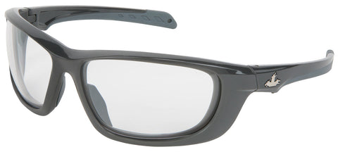 USS Defense® - Clear lens, Gunmetal Color Frame, MAX3™ Superior Anti-Scratch Coat - UD110P