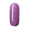 pretty purple glitter nail polish