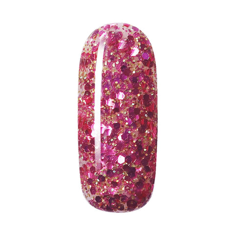 glitter mix with gold sparkle nail paint