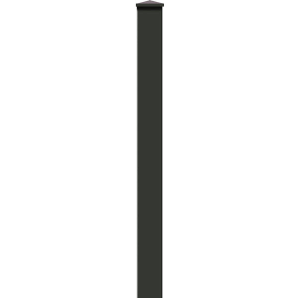 7ft Post for Ranch Rail Frontier Three Rail OR Four Rail. Available in 4 color options.