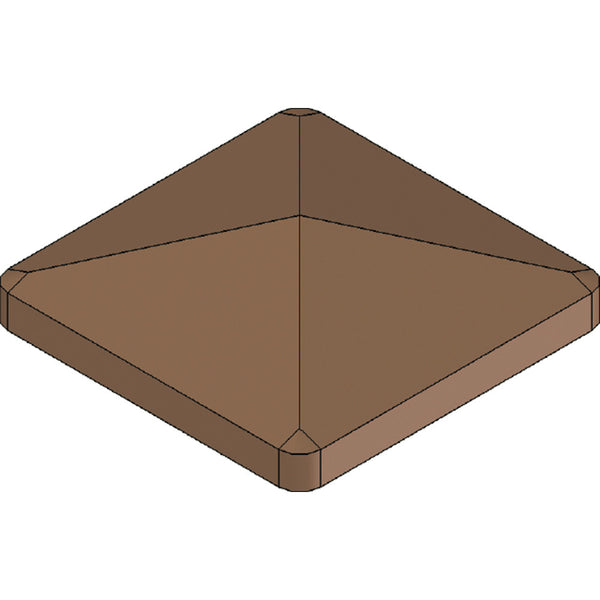Post Cap for Ranch Rail Frontier Posts. Available in 4 color options.