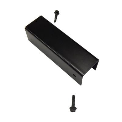 Santa Fe and Mesa 6 in. x 2 in. Black Steel Post and Rail Cap with Screws