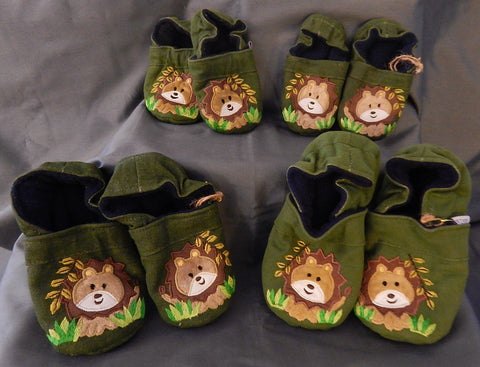 Baby Slippers - Lion