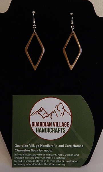 GVH Water Buffalo Bone Earrings  # 2