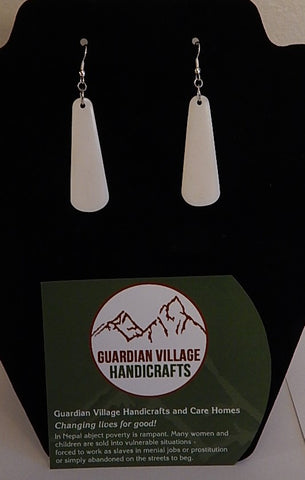 GVH Water Buffalo Bone Earrings  # 4