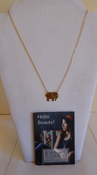 BFA Necklace - Ellie Brass-Colored