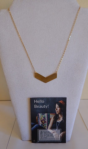 BFA Necklace -  Chevron Brass-Colored