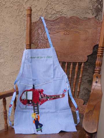 Forever Zoe Children's Apron - Helicopter