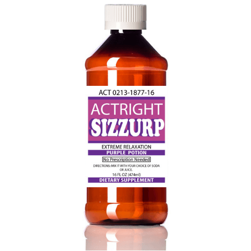 Actright Sizzurp (16oz) Purple Legal Lean Relaxation Syrup