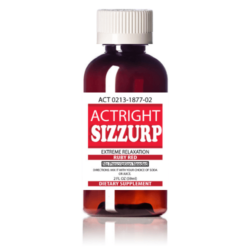 Actright Sizzurp (2oz) Red Legal Lean Relaxation Syrup