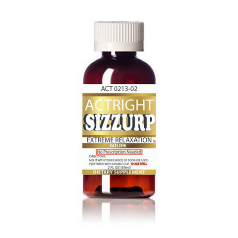 Actright Sizzurp (2oz) Yellow Legal Lean Relaxation Syrup