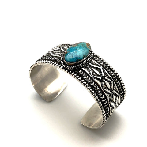 White Buffalo Inlay Ring