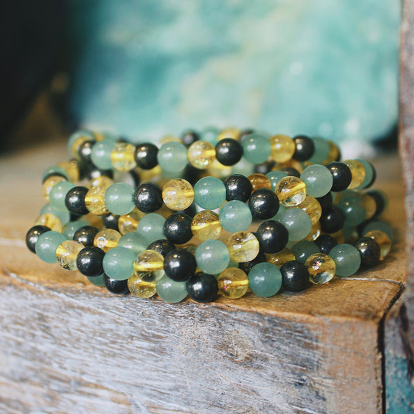 "Crystal Beaded Bracelet ""Abundance"""