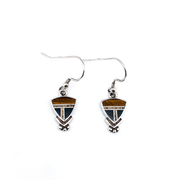 Inlay Shield Earrings