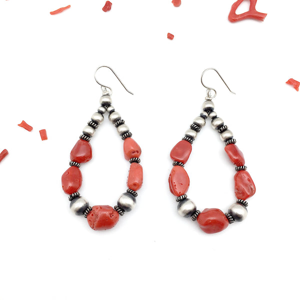 Native Coral Earrings