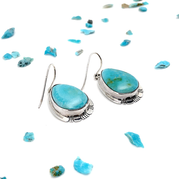 King's Manassa Turquoise Earrings