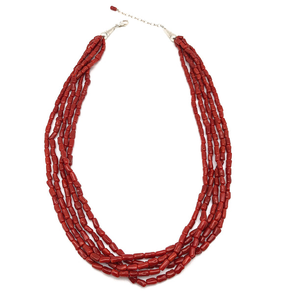 Mediterranean Red Coral Necklace | Multiple Strand | Native Visions |