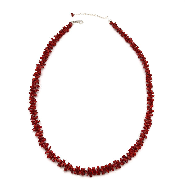 Single Strand Red Coral Necklace | Authentic Coral | Native Visions |