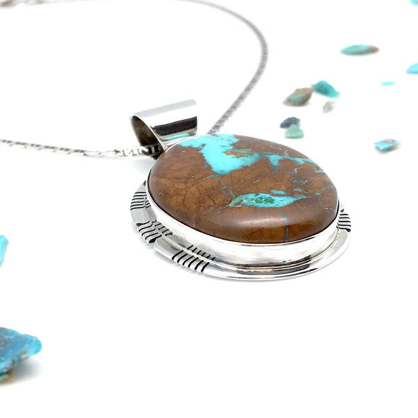 Native Visions Natural Boulder Turquoise Pendant