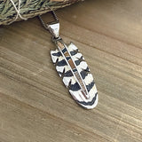 Inlay Feather Pendant *David Rosales Collection*